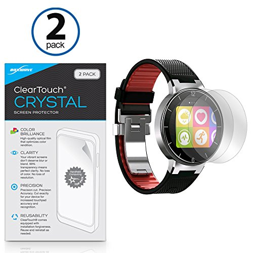 Alcatel OneTouch Watch Screen Protector, BoxWave [ClearTouch Crystal (2-Pack)] HD Film Skin - Shields From Scratches for Alcatel OneTouch Watch (0 One Alcatel Touch)