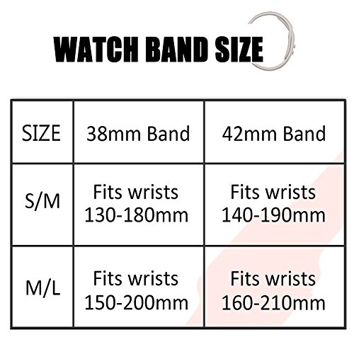 AdMaster Silicone Apple Watch Band and Replacement Sport iwatch Accessories Bands Series 3 2 1 Pebble 38mm S/M