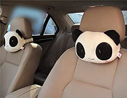Northbear Cartoon Cute Panda Plush Auto Car Seat Headrest Neck Rest Cushion Pillow 1Pair