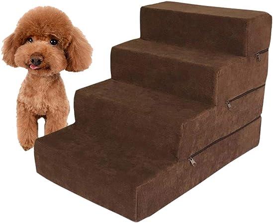 Mascotas escaleras Equipo Mascotas de 4 Pasos, Escalera para Gatos y Perros para Mascotas Consiga en la Cama Alta y el sofá, 38×54×40 cm: Amazon.es: Hogar