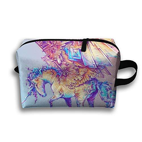 - Rainbow Unicorn Pegasus Travel Jewelry Bags Cosmetics Case For Women Zipper