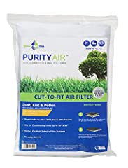 Purity Air provides high quality cut-to-fit non woven filter for multi applications including A/C, ventilation unit, air purifier and vehicles. It is easy to cut and comes with Velcro to be able to attach to area you want to apply filtration....
