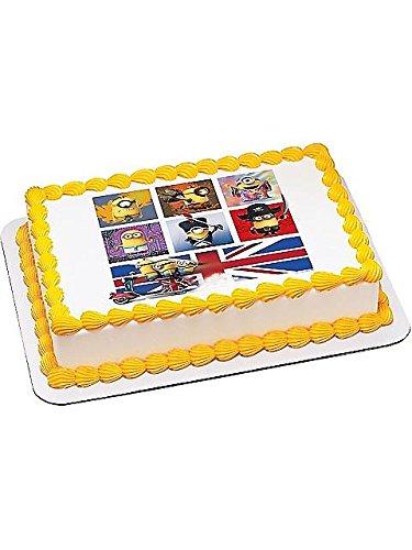Minions Evolve Quarter Sheet Edible Cake Topper (Each) - Party Supplies