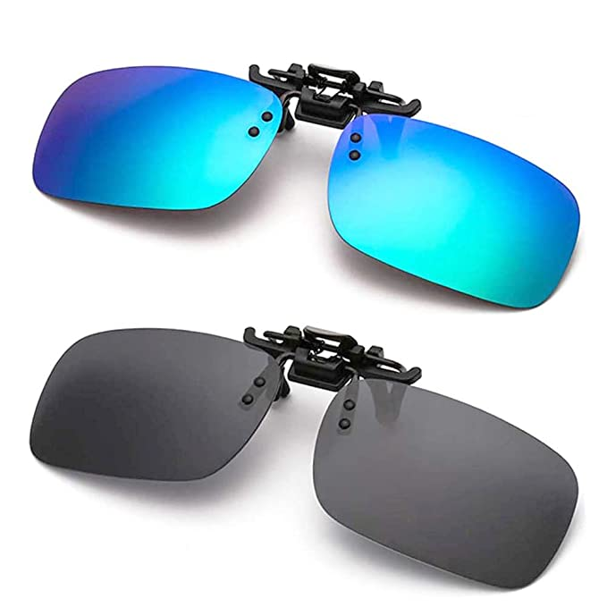polarized clip-on sunglasses anti-glare for driving fishing golf flip-up  sungasses