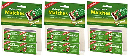 Coghlan's 940BP Waterproof Matches, 12 pack