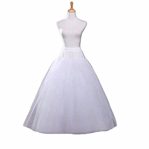 Bonus Life BonusLife Petticoat A-line Hoopless Crinoline Underskirt Slips Wedding Accessories
