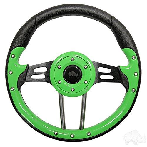 (Aviator 4 Golf Cart Steering Wheel (Lime Green))