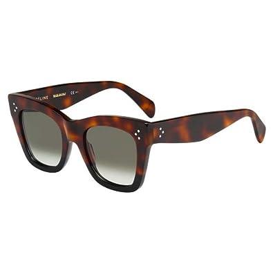 Celine Lunettes de soleil Pour Femme 41090 S - AEA Z3  Tortoise   Black   Celine  Amazon.fr  Vêtements et accessoires 10c773cf6463