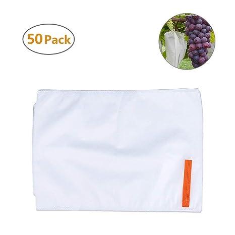 Xiaoqingmiao 50 bolsas de protección para frutas verduras ...