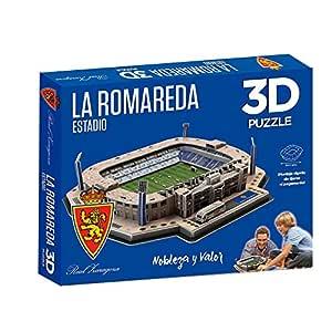ELEVEN FORCE Real Puzzle Estadio 3D La Romareda (R. Zaragoza) (63102), Multicolor, Ninguna (1)
