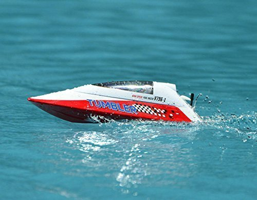 Pool Racer - 2.4Ghz Radio Control High Speed Pool Racer Tumbler Speed Boat ABS Unibody RC RTR (Color May Vary)