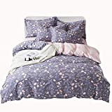 WMA-Home Simple Cotton Naked Sleep 4 Piece Set Bed Linings Cotton Small Fresh Quilt Cover Sheet Set Quilt Cover (200 * 230CM)