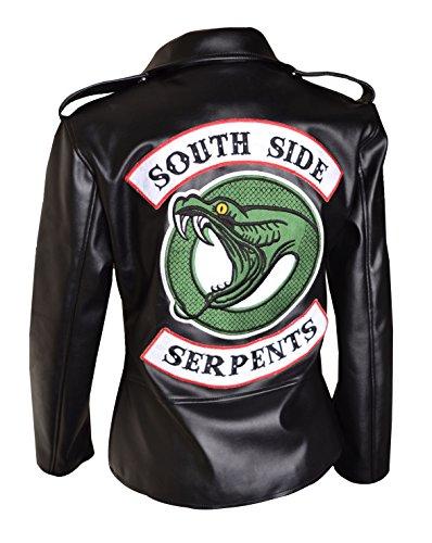 et Cuir Gnie Hommes en Southside Veste XXS Vert 5XL V2 HLS Noir Serpents Riverdale Synthtique qzFCwzZB