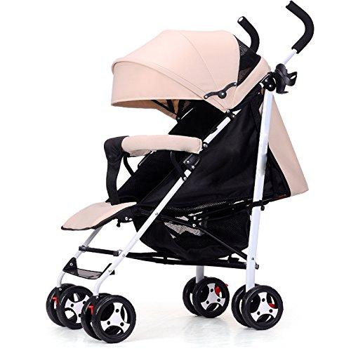 GAOYY Baby Stroller Pram Lightweight Foldable Stroller 2-in-1 Adjustable Universal Four-Wheel Shock Absorber Trolley…