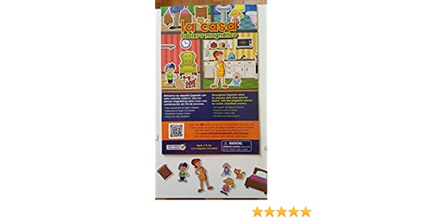 La casa - Tablero magnético - Magnetic Board Book - Preschool Learn Spanish: OnlineFreeSpanish: 9781532385926: Amazon.com: Books