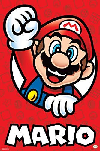 r Mario Bros Mario Nintendo Poster 12x18 Inch ()