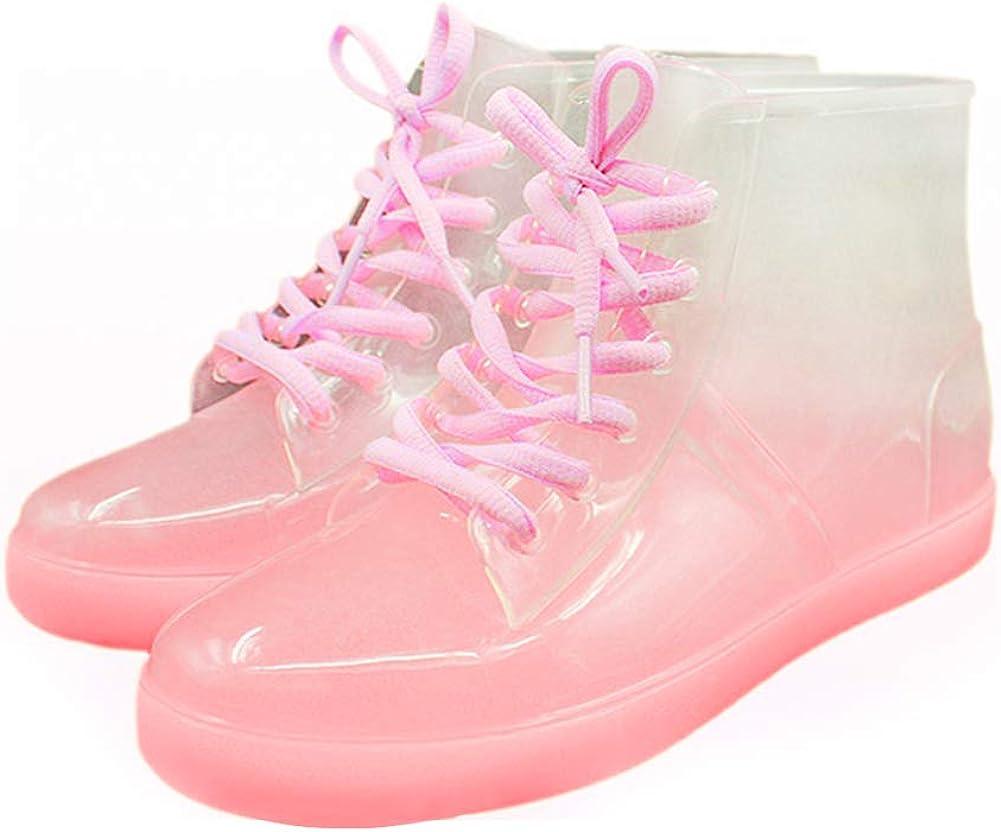 Günstig kaufen Viele Farben Erschwinglich Daytwork Stiefel Stiefeletten Schuhe Damen - wasserdichte Transparente Gummistiefel Schnee Martin Boots Regenstiefel Chelsea Pink kaxaA 4Rj6Y vLu6o