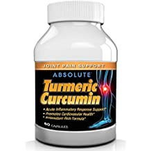 Absolute Nutrition Turmeric Curcumin Extract, Antioxidant Anti-Inflammatory Supplement, 95% Curcuminoids, 60 Capsules