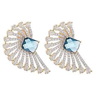 Aurora Women's Alloy Emerald Earring