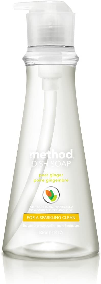 Method Dish Soap, Pear Ginger, 18 Fl Oz (Pack of 6)