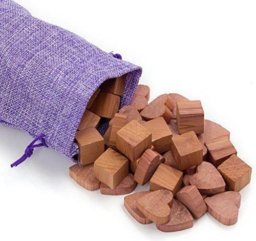 wahdawn clóset Polilla Repelente Set aromático Rojo Cubos y cajón Polilla de cedro natural de protección de cedro...