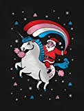 Santa Riding Unicorn Rainbow Ugly Christmas