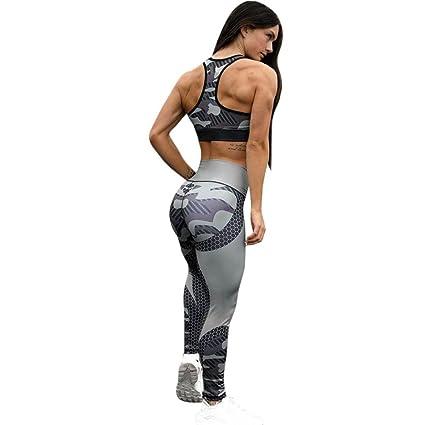 SHOBDW Bedruckte Yoga Leggings Frauen Sport Gym Yoga Workout Mid Waist Running Hosen Fitness elastische Leggings
