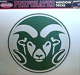 Colorado State Rams SD Medium 8'' Perforated Auto Window Film Decal University of