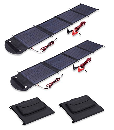 Visua VSSP 500W High Power Fold Up Portable Solar Panel Battery Charger Kits For Caravans, Motorhomes 100W Kit by Visua
