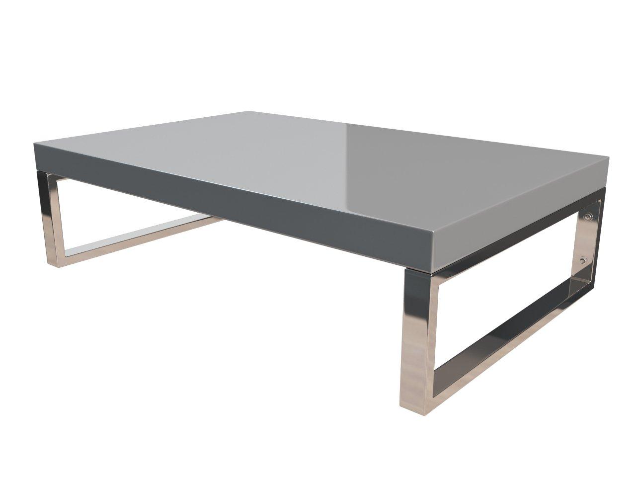 KeraBad Waschtischplatte Waschtischkonsole für Aufsatzwaschbecken und Waschschalen Holzplatte Badmöbel Tischplatte 60x45x5cm Silber Hochglanz kb-wt50120silber-10