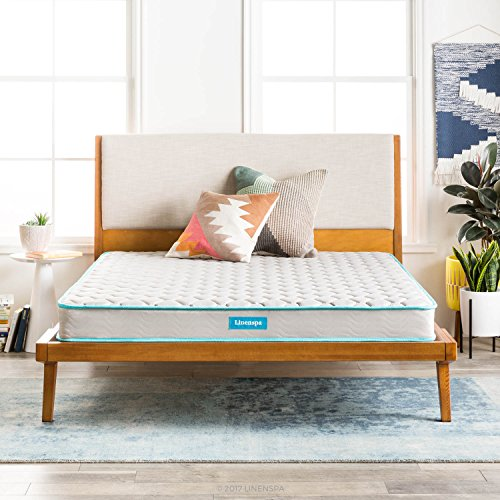LINENSPA 6 Inch Innerspring Mattress - (Latex Bed)