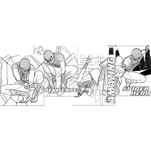 The Amazing Spider-Man Color Your Own Posters (4) Party Accessory by Hallmark