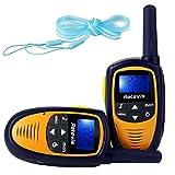 Retevis RT31 Mini Kids Walkie Talkies 22CH VOX LCD Display 2 Way Radio (Purple/Yellow, 1 Pair)