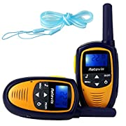 Amazon Lightning Deal 56% claimed: Retevis RT31 Mini Kids Walkie Talkies 22CH 0.5W UHF FRS/GMRS VOX LCD Display 2 Way Radio (Purple/Yellow, 1 Pair)