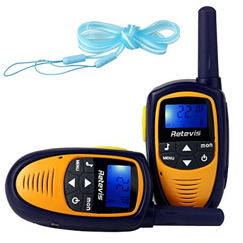 Amazon Lightning Deal 56% claimed: Retevis RT31 Mini Kids Walkie Talkies 22CH 0.5W UHF FRS/GMRS VOX LCD Display 2 Way Radio (Purple/Yellow, 1 Pair)