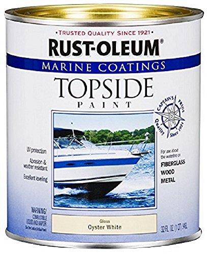 Rust-Oleum 207001 Marine Coatings Topside Paint, Quart, Oyster White ()