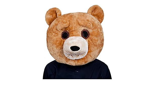 Cabeza de oso afelpada para adultos para disfraz: Amazon.es: Ropa y accesorios