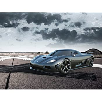 Koenigsegg Agera R (2013) Car Art Poster Print On 10 Mil Archival Satin  Paper