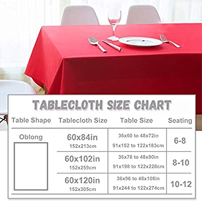 Hunter Green 54 x 70 RYB HOME Table Cloth Rectangle Spill-Proof Wrinkle Free Washable Polyester Christmas Decor Tablecloth for Dining Buffet Party Banquet Outdoor Picnic