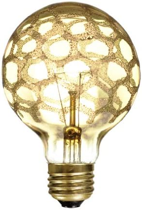Amber 40-watt Bulbrite 40G25//MAR Crystal Collection Incandescent G25 Globe Light with Marble Finish and Medium Base