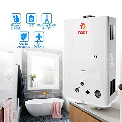 Tengchang 18L LPG Gas Hot Water Heater Instant Boiler Digital Display Shower Home Propane