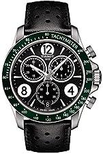 Tissot V8 T106.417.16.057.00 Black/Black Leather Analog Quartz Men's Watch
