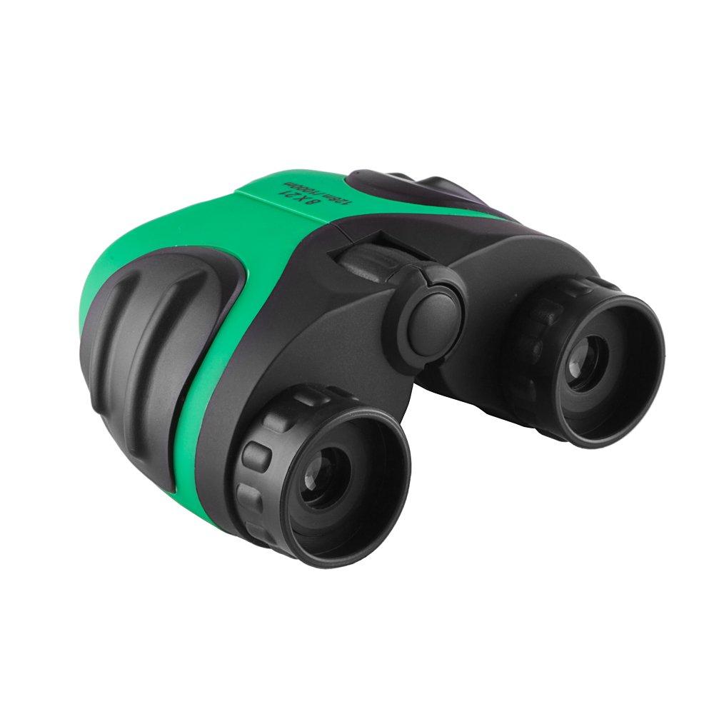 emmabin子供コンパクト双眼鏡8 x 21 Ruby色付きレンズ折りたたみ双眼鏡望遠鏡for wildlife watchingコンサートスポーツゲームアウトドアハイキングtravel-giftケースストラップとクリーニングクロス B07CN33NW8
