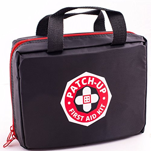 First Aid Kit From Patch-Up (270 Pieces-39 Unique Medical Items) Designed For Family Emergency Care. Compact-Waterproof-Nylon Bag Is Ideal For Home-Car-Boat-Sports-Outdoors. First Aid Guide Included.