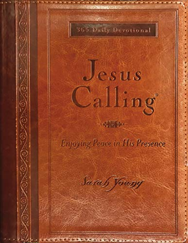 Jesus Calling (Large Print Leathersoft): Enjoying Peace in His Presence (with Full ()