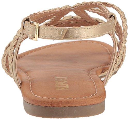 Report Women's gibbie Flat Sandal Gold QxxWVIo0nT