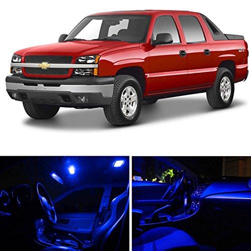 LEDpartsNow Chevrolet Avalanche 2002-2006 Blue Premium LED Interior Lights Package Kit (20 Pieces)