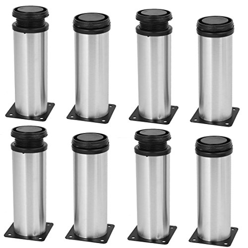 uxcell 50mm x 150mm Metal Adjustable Shelf Cabinet Feet Leg Round Stand 8PCS by uxcell