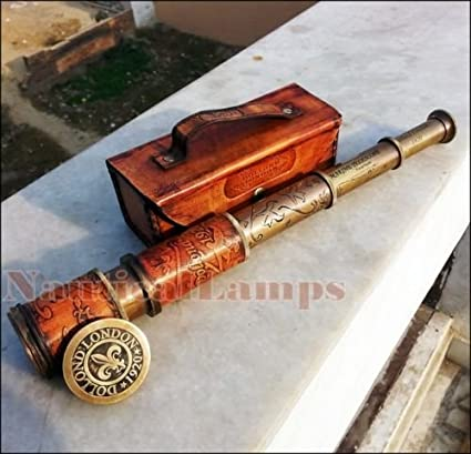 Amazon com: Replica Warehouse ANTIQUE BRASS TELESCOPE