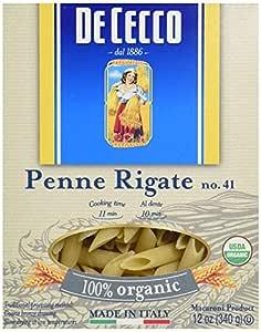 De Cecco Pasta Organic Penne Regate, 12 oz
